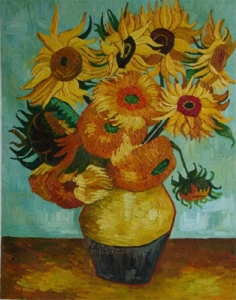 semestafakta-vase of sunflowers