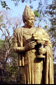 Statue of Burmese King Anawrahta, Yangon, Burma