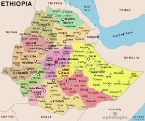 semestafakta-ethiopia map