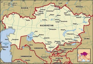 semestafakta-kazakhstan map
