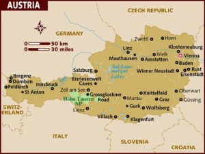 semestafakta-austria map