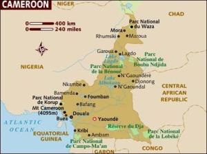 semestafakta-kamerun map