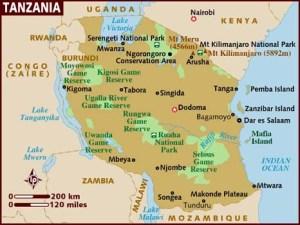 semestafakta-tanzania map
