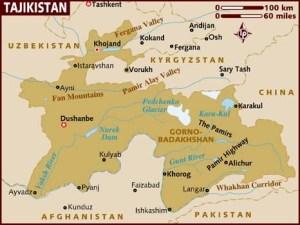 semestafakta-tajikistan map