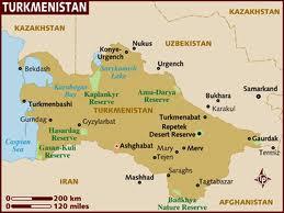 semestafakta- turkmenistan map