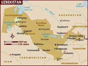 semestafakta-uzbekistan map