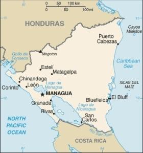 semestafakta-nicaragua map