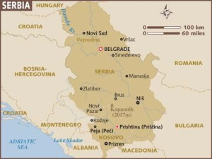semestafakta-serbia map
