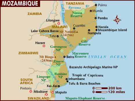 semestafakta-mozambique map