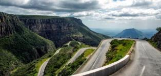 Winding road at Serra Da Leba, Angola