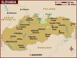 semestafakta- slovakia map