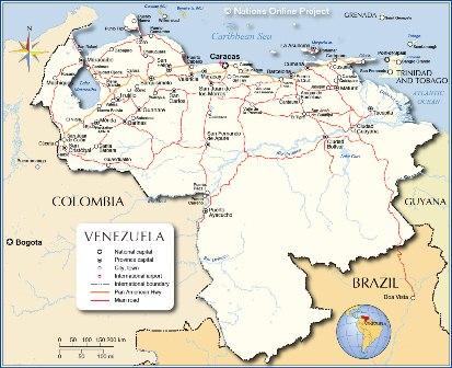 semestafakta-venezuela map